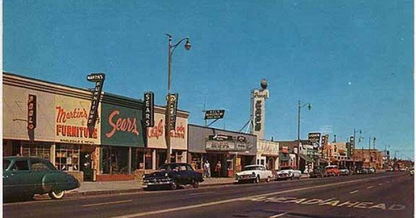 Lancaster Blvd In The 1950s Lancaster Ca Lancaster California