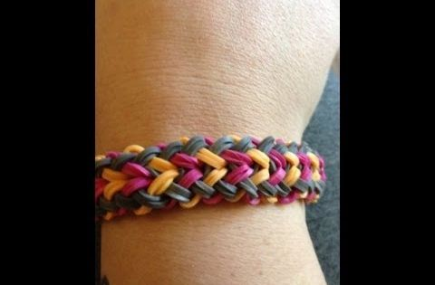How To Make A Small Basket Weave Loom Bracelet : Rainbow loom small basket weave bracelet by tina ripolone