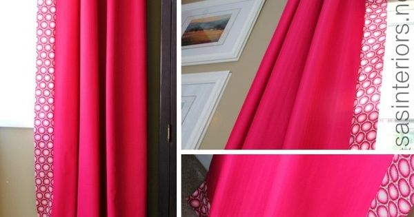 Create A Unique And One Of A Kind Curtain By Adding Decorative Trim To Give A Designer Look