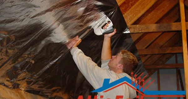 How To Install Radiant Barrier On Attic Rafters In 5 Steps Attic Renovation Attic Flooring Attic Remodel