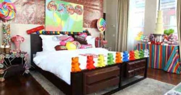 Candy themed room life pinterest candy themed for Candy themed bedroom ideas