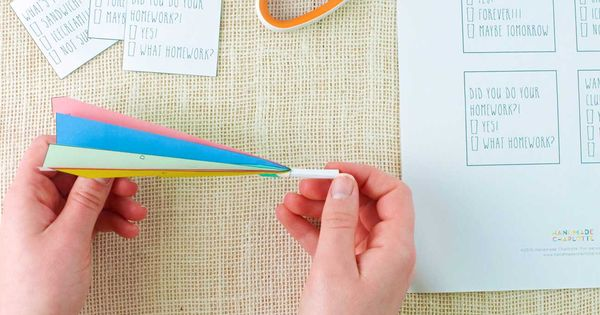Folding Paper Airplanes With Secret Messages Inside