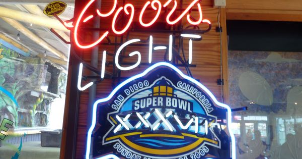 Coors Light Neon Beer Sign Super Bowl Xxxvii Nfl