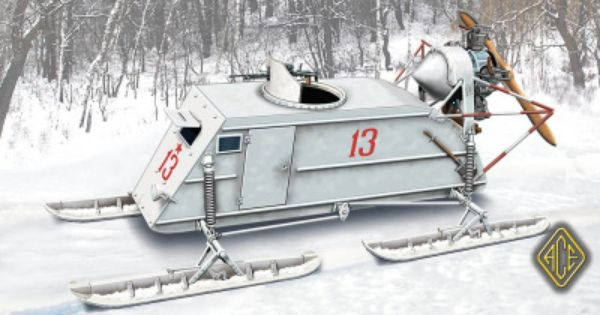 Soviet Army RF-8 armed snowmobiles Plastic model Trumpeter