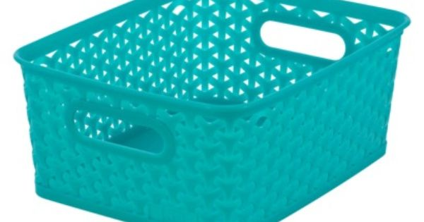 Room essentials y weave small storage basket set of 4 for Small room essentials