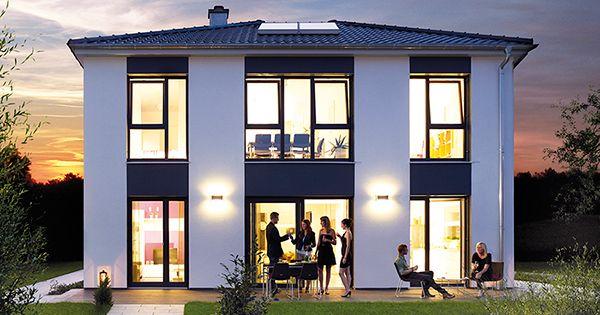 das ausstellungshaus villa 194 von hanse haus ist eine moderne stadtvilla mit bodentiefen. Black Bedroom Furniture Sets. Home Design Ideas