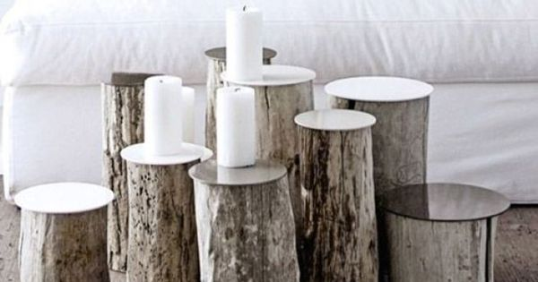 diy deco detourner tronc d 39 arbres en tables basses originales maison campagne pinterest. Black Bedroom Furniture Sets. Home Design Ideas
