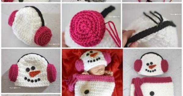 Crochet Snowman Baby Cocoon Pattern : Crochet Snowman Cocoon Pattern Hat And Earmuffs Baby ...