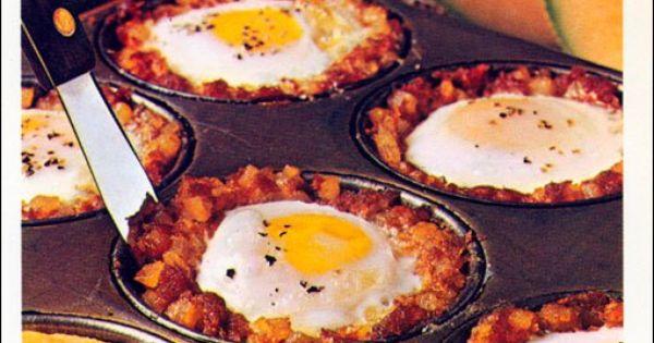 Meal In A Muffin Pan Betty Crocker Recipe Card 1971