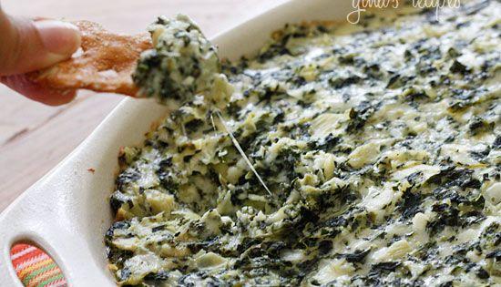 skinny girl spinach & artichoke dip Hot Spinach and Artichoke Dip Gina's