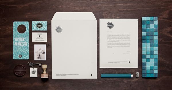 Maminena / Mfutura. Beautiful design of Brazillian boutique hotel branding!
