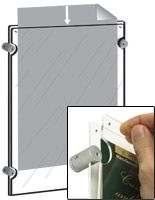Workshop Series 8 5 X 11 Acrylic Sign Holder For Wall Top Insert Clear Retail Display Acrylic Sign Acrylic Wall Panels