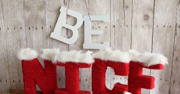 Santa Yarn Letters from www.sisterssuitca... christmas decor