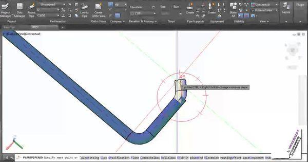 สอนโปรแกรมเขียนแบบ [autocad plant 3d] ตอน ใช้งาน pipe bend ... single line diagram autocad lt single line diagram for elevator #13