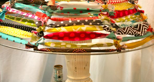 scrap fabric lampshade - great idea Very much like one we bought