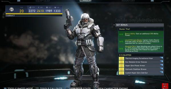 Captain Cold S Master Thief Epic Gear Set Injustice 2 Injustice Injustice 2 Dc Comics