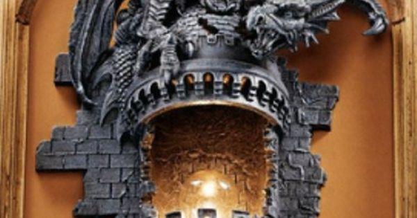 Perched Dragon Atop A Medieval