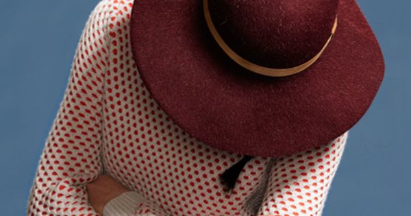 Opening Ceremony Fall 2012: Maroon Hat & Polka Dots
