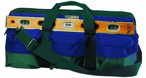 Bondura 41 108 24 Inch By 10 Inch By 11 Inch Mason S Tool Bag Hunter Green And Blue Tool Bag Garage Storage Systems Hunter Green