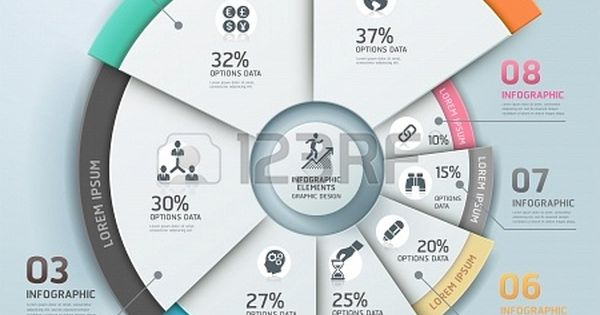Modern business Infographics origami style