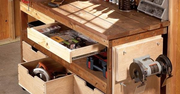 Workbench plans workbenches the family handyman for Family handyman house plans