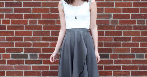 cascade skirt sewing pattern high low skirt high low