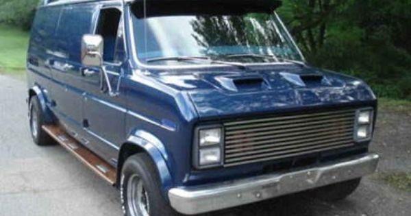 1980 Ford Econoline E 150 Custom Van Old School Custom Vans