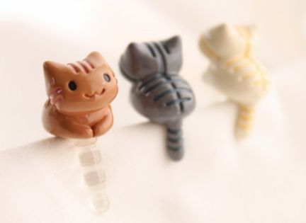 for the catlovers :) Kitty Earphone Cap