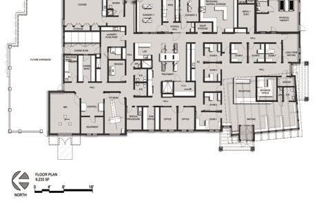 Veterinary Hospital Floor Plan Animal Neurology Rehab
