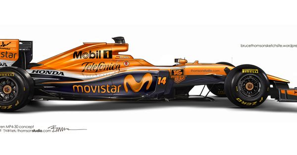 Mclaren P >> 2015 McLaren-Honda MP4-30 F1 Concept with McLaren orange livery   Auto Racing   Pinterest ...