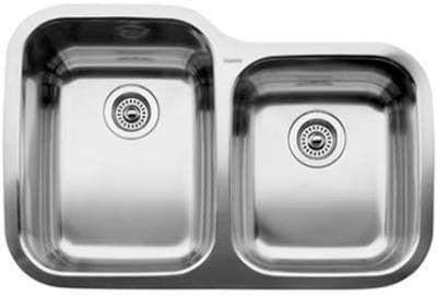 Blanco Supreme 440234 Double Bowl Kitchen Sink Steel Kitchen