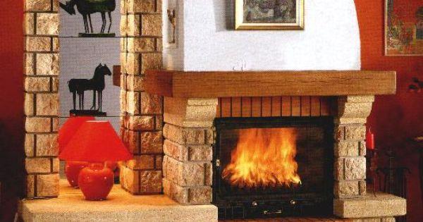 Chimeneas r sticas opciones para bungalows y casas de - Chimeneas de campo ...