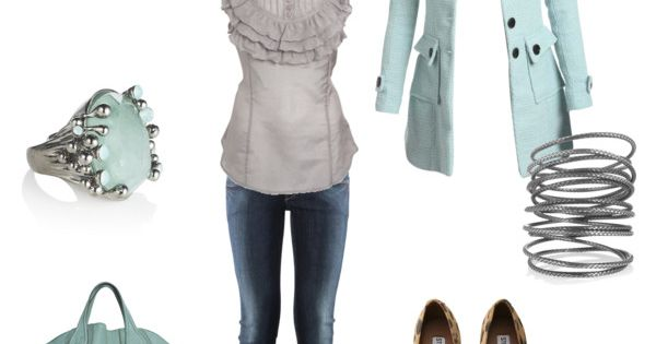 grey, light teal, created by sassymel75 on polyvore. fashion style Wet Seal