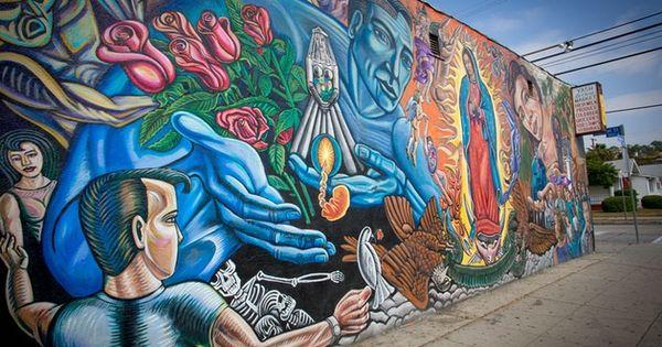 mural de nuestra se ora en los angeles california ee uu On mural nuestra carne