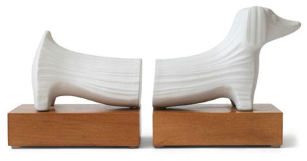Jonathan Adler Dachshund Bookends in Books