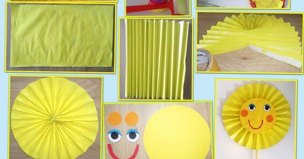 Soleil bricolage enfant pinterest blog - Activite manuelle elementaire ...