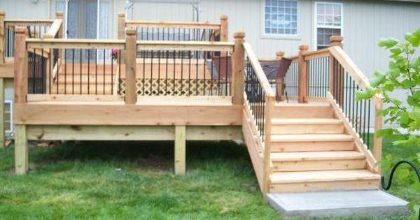 Double Deck Multi Level Deck Decks Backyard Deck Designs Multi Level