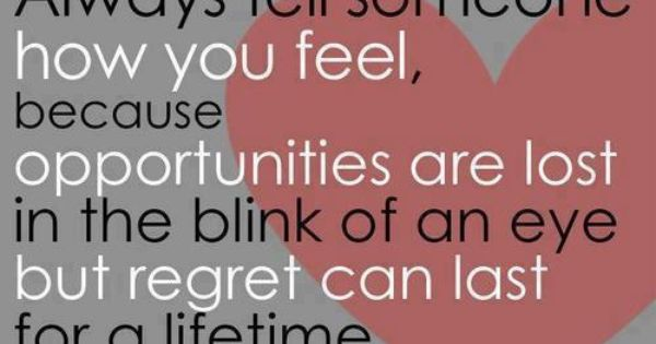 No regrets - so true