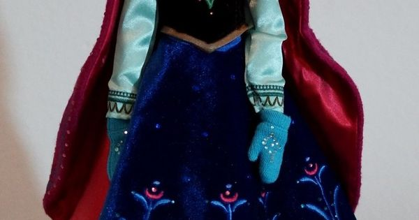 Limited Edition snow Gear Anna OOAK doll, Disney Frozen, full facial repaint,