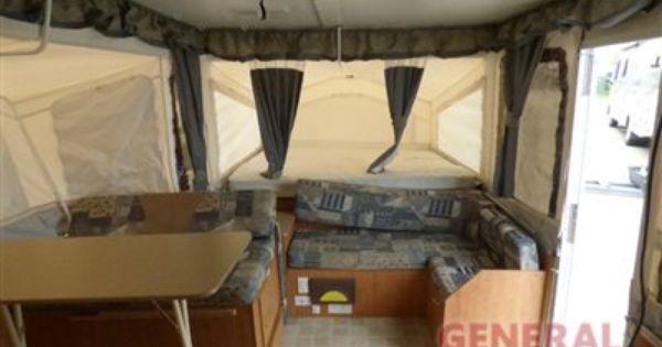 Used 2006 Rockwood Premier 2514 G Folding Pop Up Camper Pop Up Camper Rockwood Outdoor Bed