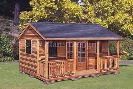 16 X 20 Cabin Shed Guest House Building Plans 61620 Guest House Shed Building A Shed Shed With Porch
