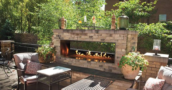 Carol Rose See Through 48 Quot Outdoor Linear Fireplace