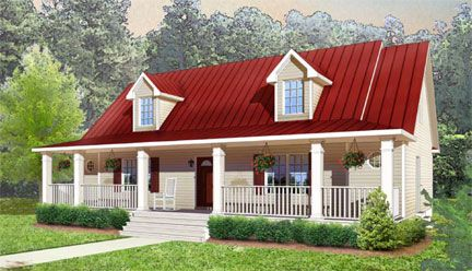 Turn Key Custom Homes Red Roof House House Roof Tin Roof House