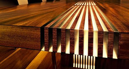 Hardwood And Resin Lets Light Through Wood Products