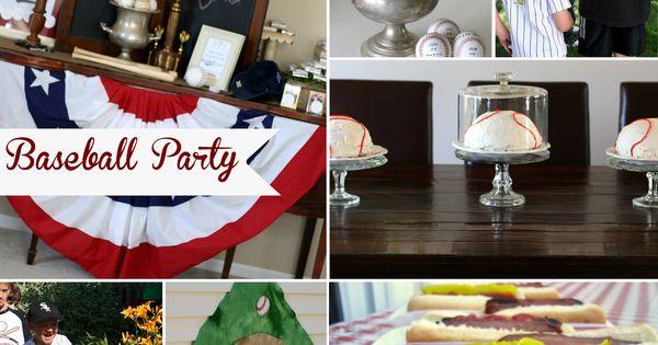 Baseball Party Ideas Invitations Decorations Activities
