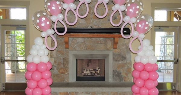 baby shower balloon decorations pacifier arches mmballoons store