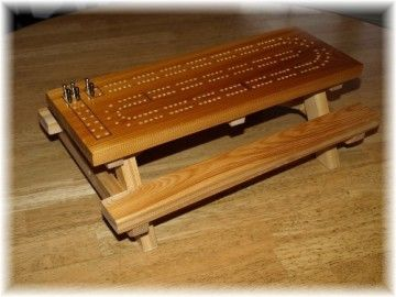These Cribbage Boards Are Made With Northern White Cedar Just Like Our Big Tables Shop Online And Get Free Shipping In Cribbage Cribbage Board Cribbage Table