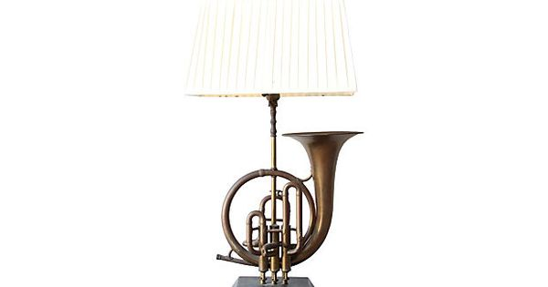 brass french horn lamp on stuff for my nest pinterest french horn. Black Bedroom Furniture Sets. Home Design Ideas