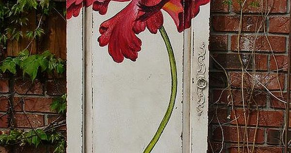Painted door - Exterior varnish & use it for the door to