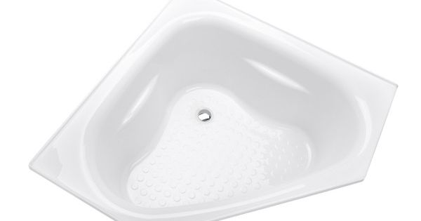 Azzurro small corner bath 1100 x 1100 x 455mm 101 litres for Small baths 1100